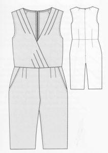 Sommerlicher Overall Schnittmuste Ottobre design 02/2016 Modell Nr. 8