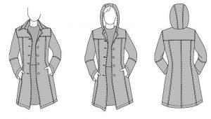 Mantel tailliert nahen